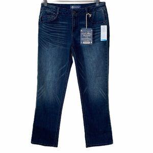Democracy Flex-Ellent Slim Straight Crop Jeans